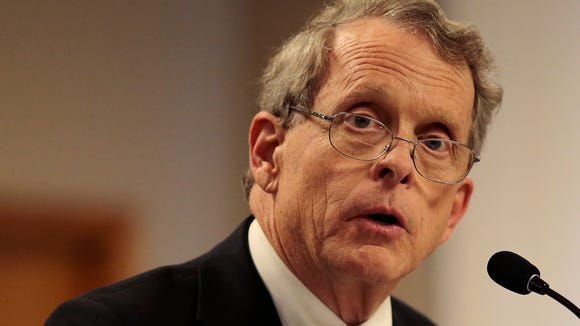 Ohio State Attorney General Mike DeWine addresses the