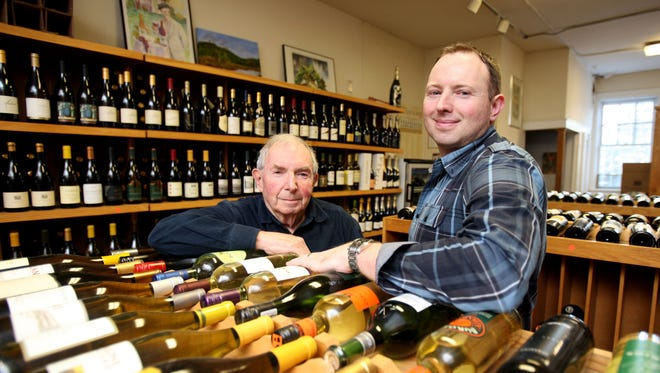 Arthur Wunderlich and his son Scott at Bedford Wine Merchants in Bedford.