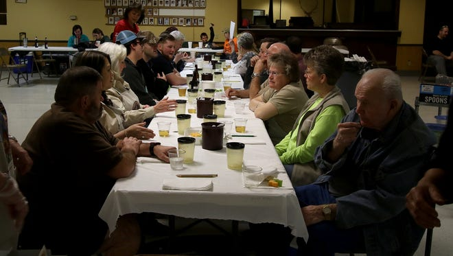 Judges choose which chili they like the most during Sheriff Duke's Dynamite Chili Fest Saturday, Feb. 3, 2018, at the Elk's Lodge on Seymour Highway.