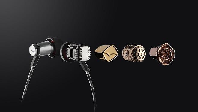 The V-Moda Forza earphones can be customized with different casings.