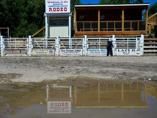 The Augusta American Legion Rodeo Arena is undergoing