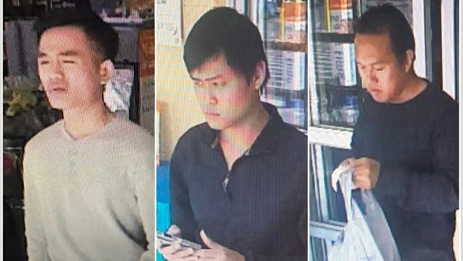 Las Cruces police ask for help in identifying three suspects in credit card scam.