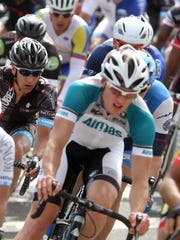Riders take part in the 2014 Tour of Somerville.