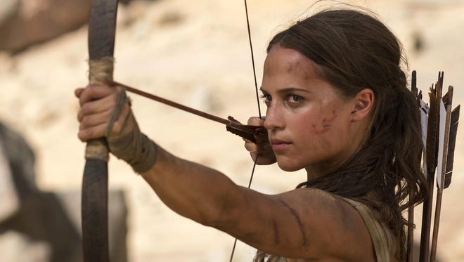 """Alicia Vikander in """"Tomb Raider,"""" a movie that previously would not have hit screens until Memorial Day."""