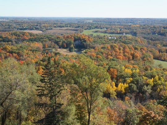 The view from the Holy Hill scenic tower is beautiful, especially in fall.