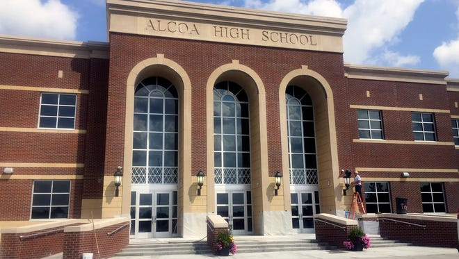 The new Alcoa High School is pictured Wednesday, June 24, 2015, in Alcoa. The $33.5 million building will be ready when school starts July 30. It sits adjacent to the old high school and completes the Alcoa City Schools' campus, according to Director of Schools Brian Bell.