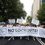 Keep Sydney Open demonstrators are seen on Feb. 21, 2016, in Sydney.  The state government imposed a range of restrictions on inner city venues, including a 1:30 a.m. lockout in February 2014, which many believe has had a negative effect on Sydney's late night culture.