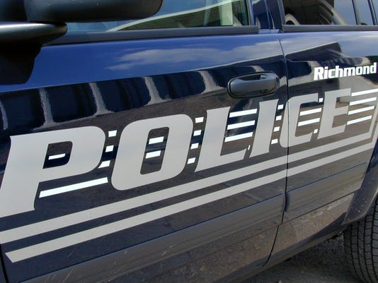 Richmond Police car (midnight blue with gray lettering)