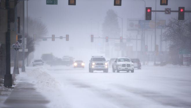 Winter storm, Saturday, April 14, in Sioux Falls.