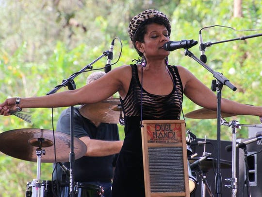 New Orleans native Sybil Gage and her Cathoulas band are one of three New Orleans-style bands performing Saturday at Summer Crush Winery in Fort Pierce.
