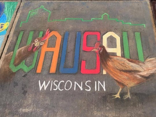 The backyard chicken debate even made an appearance at the 2017 Chalkfest with this work of art.