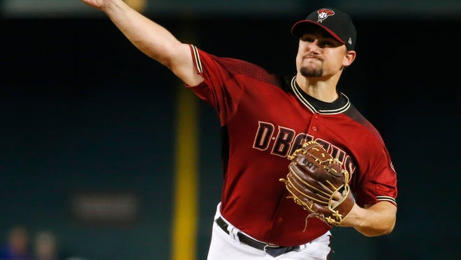 Zack Godley notched eight strikeouts against the Cubs, including the rare four-strikeout inning in the game's top frame.