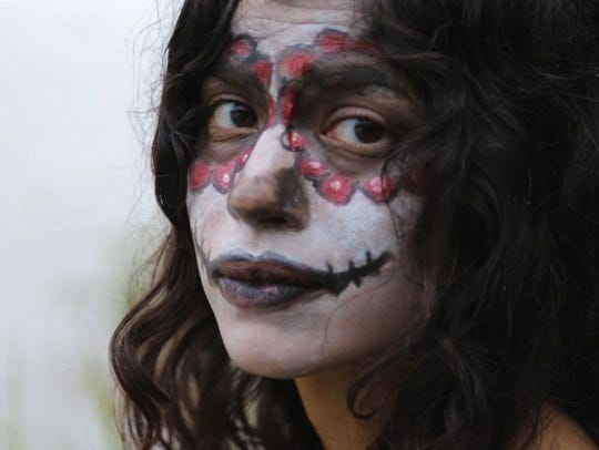 "A scene from the short film ""La Catrina,"" written and"