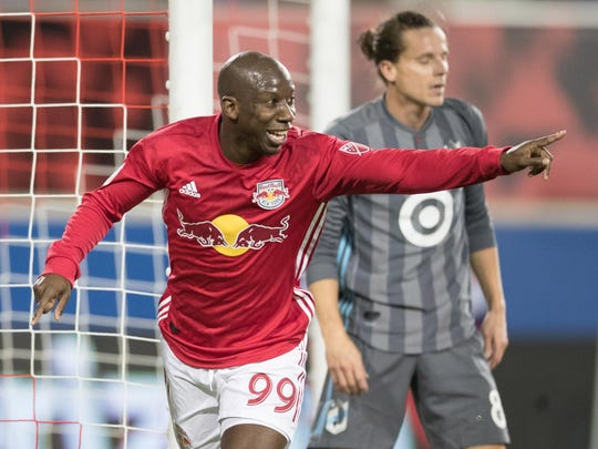The New York Red Bulls'  Bradley Wright-Phillips (99)