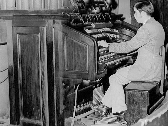 The original 1927 Möller organ, seen here in an earlier era, is still in use today