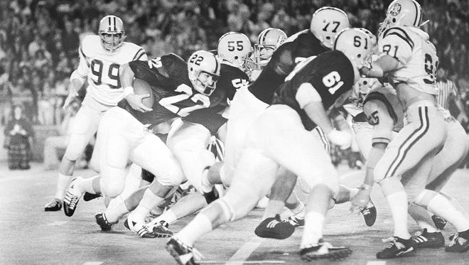 Check out those numbers on the Penn State helmets. The Lions will wear them again as part of a throwback uniform for the Sept. 30 home game vs. Indiana. They'll look like Heisman Trophy winner John Cappelletti against LSU in the 1974 Orange Bowl.