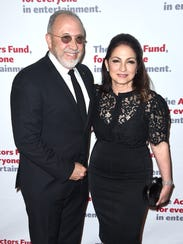 Emilio Estefan and Gloria Estefan attend The Actors