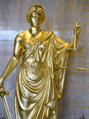 Photo of Lady Justice at the Lebanon County Municipal Building