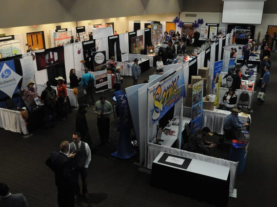 Hundreds of people showed up for the annual Oshkosh Chamber of Commerce Business Expo. This year's expo will be on Jan. 31.