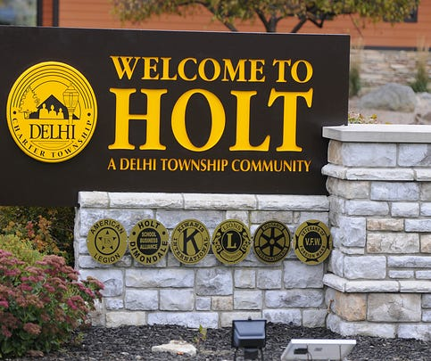 Holt/Delhi Township sign  sign 10/29/2013.    (Lansing State Journal | Rod Sanford)