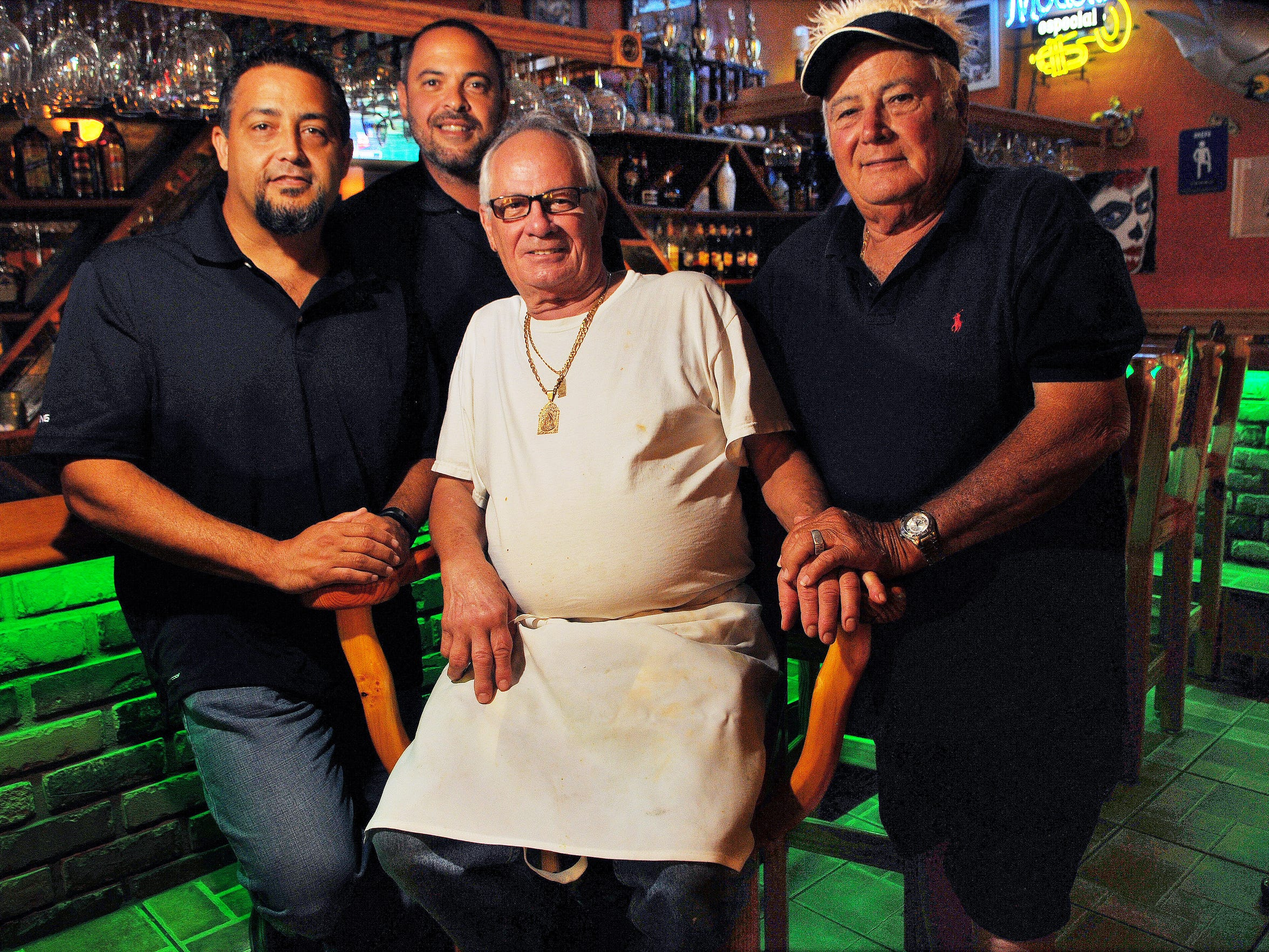Raul, Rudy Rodolfo and Raul Barrial at El Charro in Cocoa.