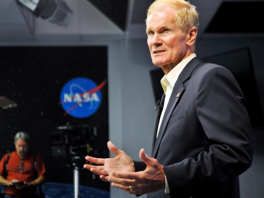 U.S. Senator Bill Nelson and former Space Shuttle Astronaut holds a press conference Monday afternoon at the Kennedy Space Center Press Center on the SpaceX Falcon 9 anomaly.
