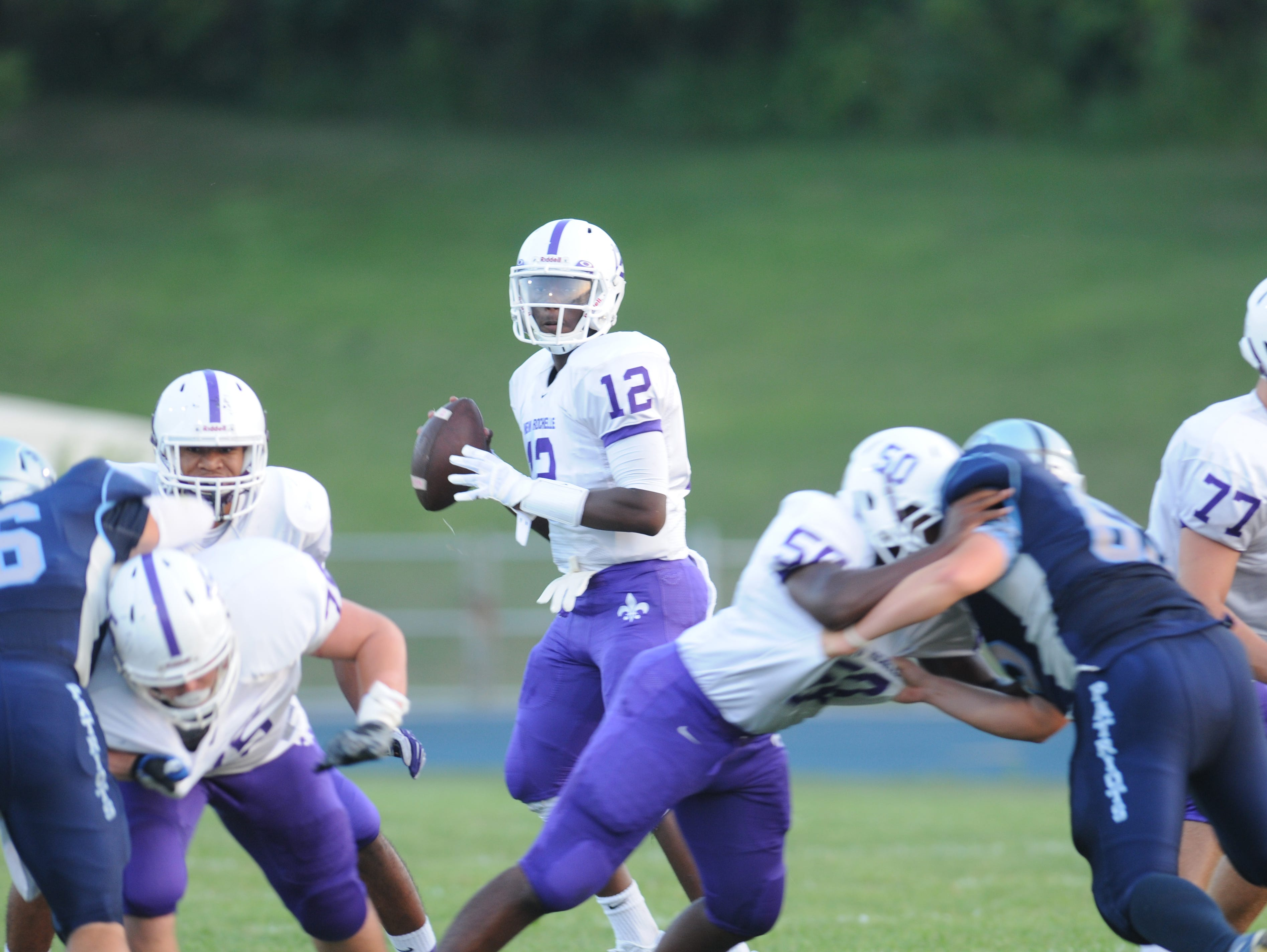 Action from Fridays game between John Jay High School and New Rochelle in East Fishkill.