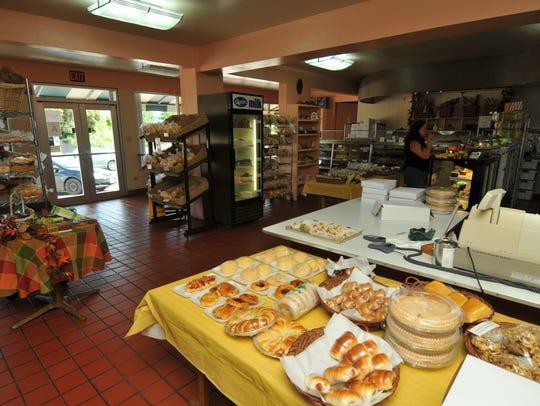 Inside Crown Bakery.