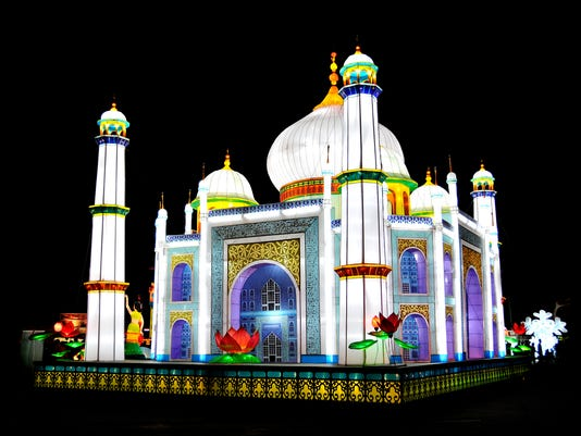 Taj Mahal at Global Winter Wonderland
