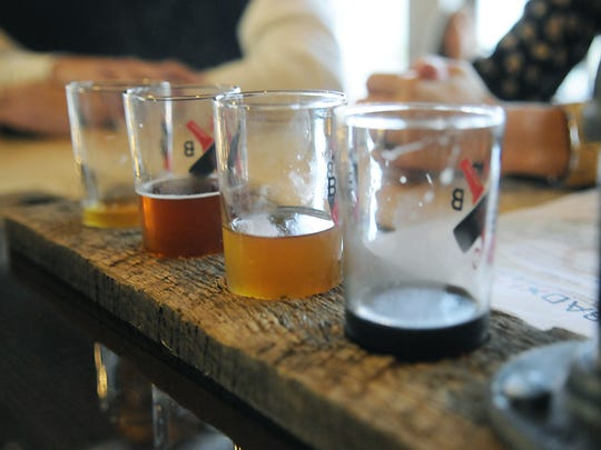 A selection of beers at Bad Habit Brewing Company.