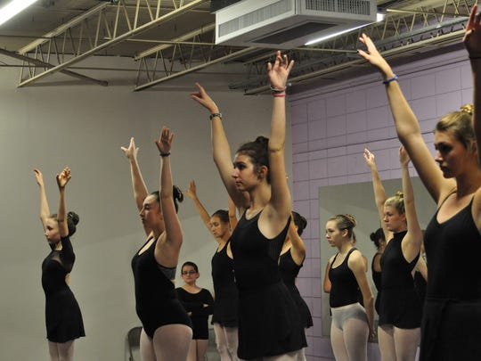 Dancers with the Red River Theatre Dance Company rehearse for their upcoming production of the Nutcracker.