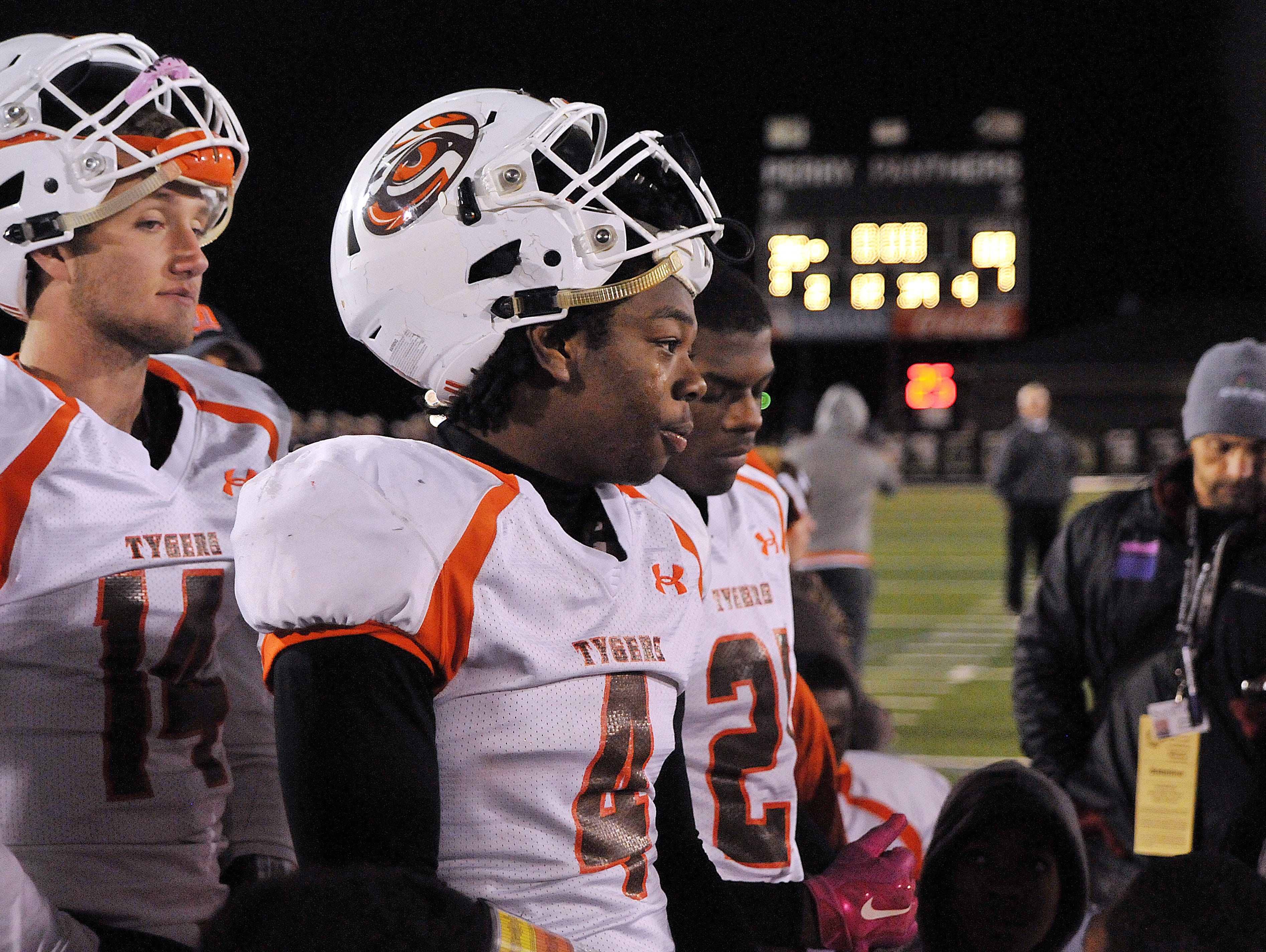 Mansfield Senior's Marvin Parker (4) was named News Journal Defensive Player of the Year.