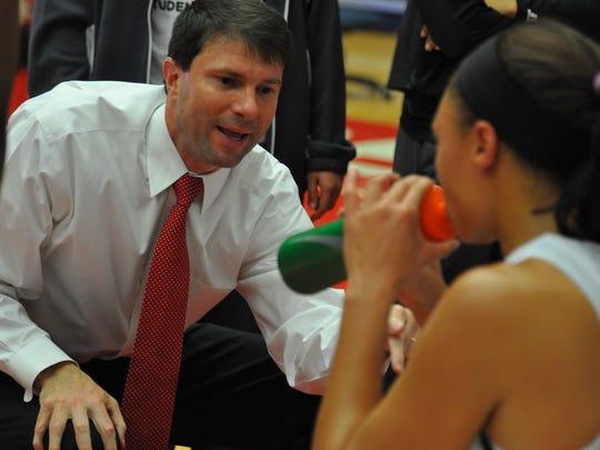 Austin Peay women's basketball coach David Midlick