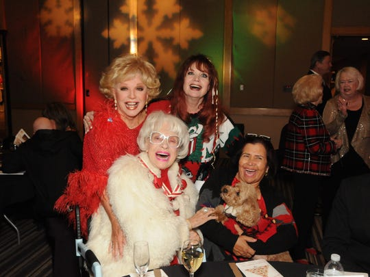 Ruta Lee and Joey English in back, with Carol Channing and Sylvia Long in front