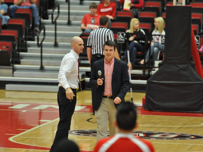 New football coach Will Healy was introduced to the