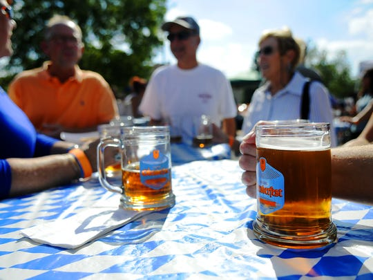 Beaver Island Brewing Co. serves beers, including some brewed using hops from Spalt, Germany, at Oktoberfest. Beaver Island Brewing served Oktoberfest and Sister City which is brewed in Spalt, Germany at their Oktoberfest event in September.