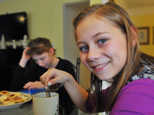 Eva, 12, enjoys tea and hopes to be adopted by Kathleen and Magnus Bendiksen.