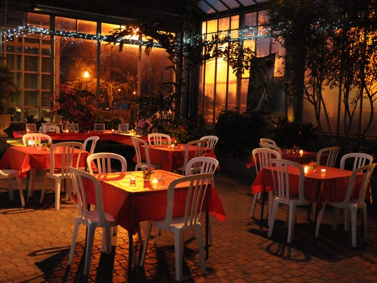 Enjoy sweets by candlelight at Garfield Conservatory.