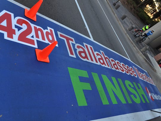 Tallahassee now has a permanent marathon finish line, following Boston - the only other city with a permanent installation.