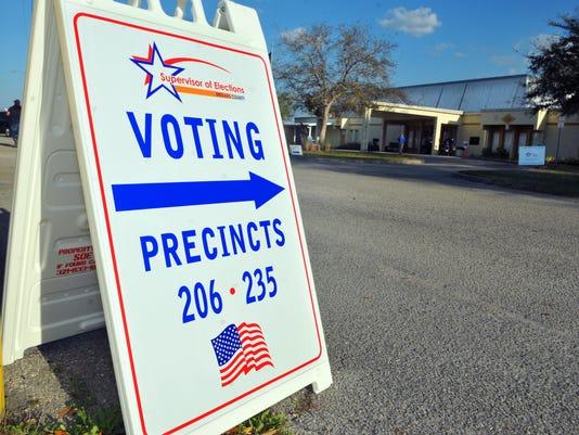 Voting precinct at Kiwanis Island on Merritt Island .