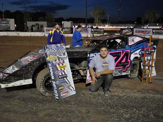 IMCA modifieds, like the one driven by Mitch McGrath,