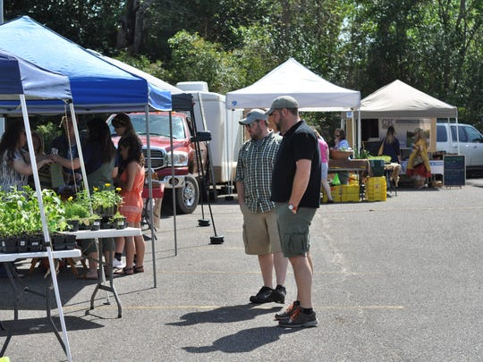 The Pineville Farmers Market's new location at the entrance of Louisiana College.