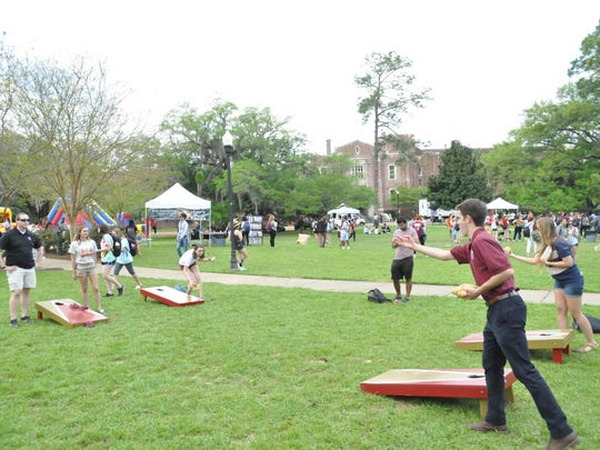 Students also played games and danced on Landis Green during the Ice Cream Social.