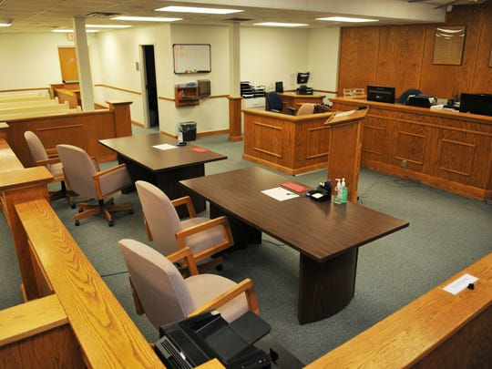 This is one of the courtrooms at the Melbourne Branch