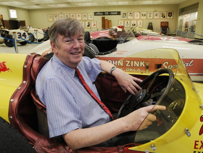 Donald Davidson with  roadsters that ran at IMS his
