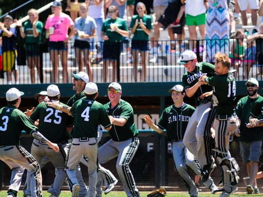 The Shamrocks advanced with a 2-0 victory over No. 8-ranked Gaylord St. Mary in a Division 4 state semifinal at Michigan State's McLane Stadium on Friday afternoon.
