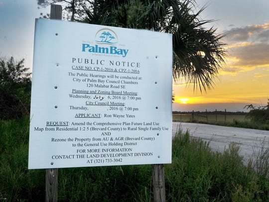A public notice issued by the City of Palm Bay.