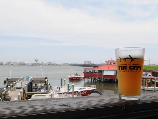 Fin City Brewing Company over looks the bay in Ocean City. Located in Hooper's Crab House.