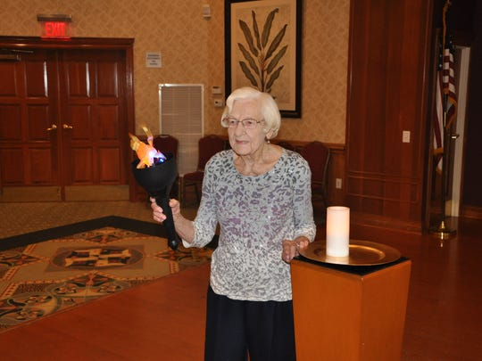 This year, the games at Somerset Run are dedicated to Grace Jardon, who was last year's torch bearer. She passed on this spring at 101, but she actively participated in the four previous games.