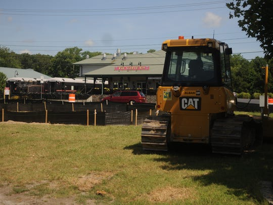 Construction equipment on Route 26
